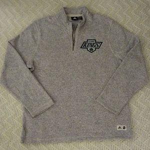 Adidas NHL Los Angeles LA Kings Fleece 1/4 Zip XL